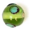Glass Lamp Bead 10mm Green
